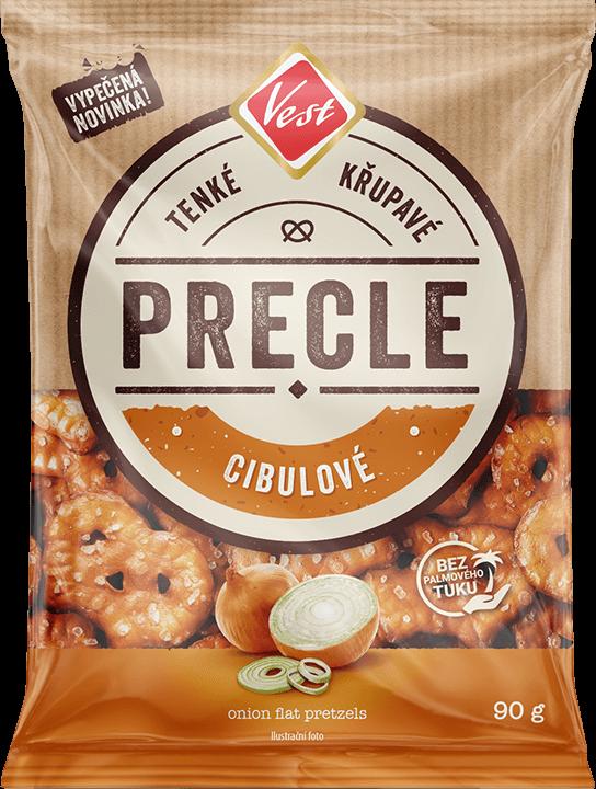 Onion flat pretzels 90g