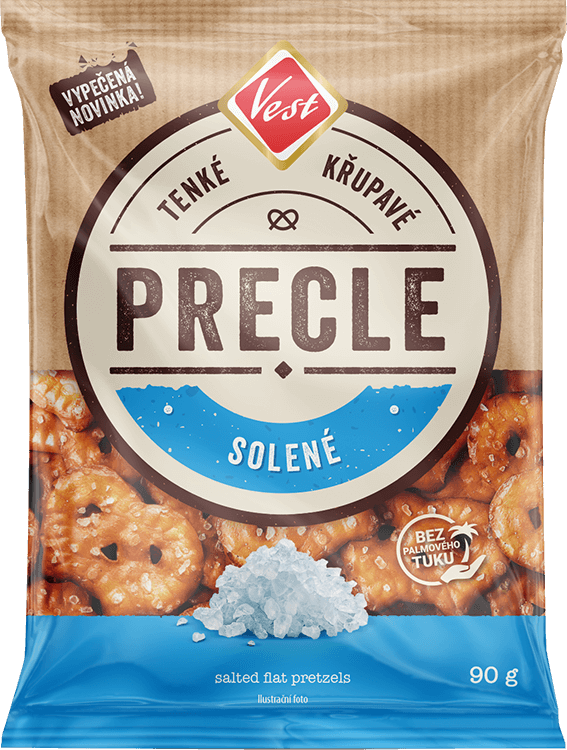 Salted flat pretzels 90g