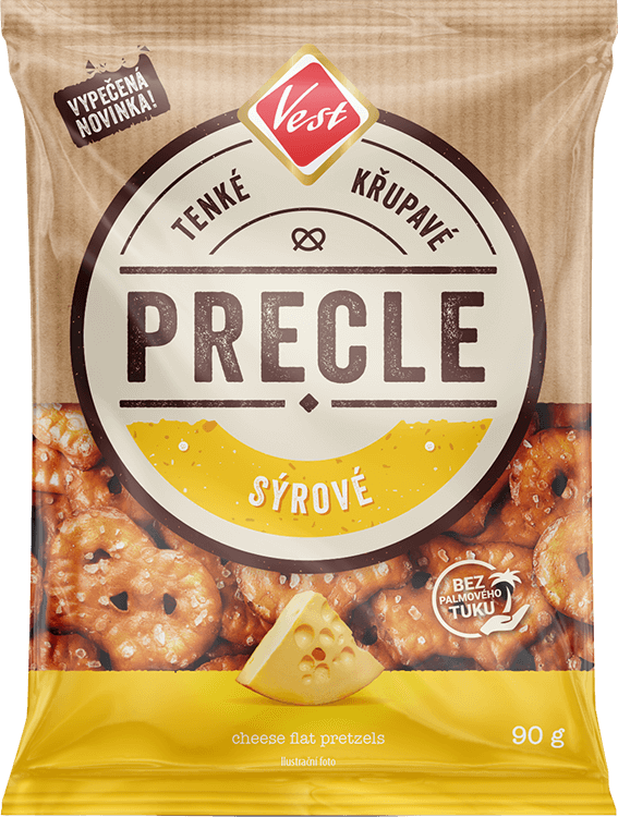 Cheese flat pretzels 90 g