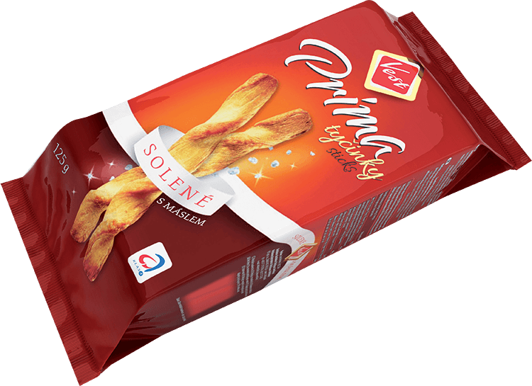 Prima salted snack sticks 125 g