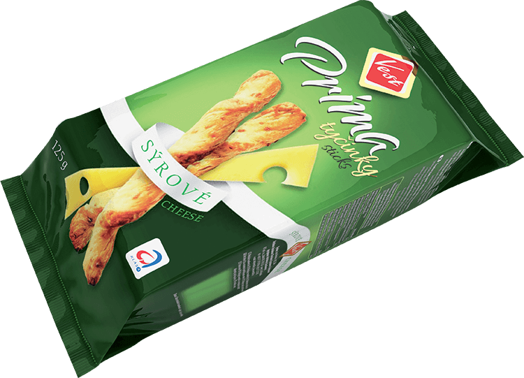 Prima cheesy snack sticks 125 g